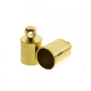 DQ eindkap goud (geschikt voor 4mm leer/koord)