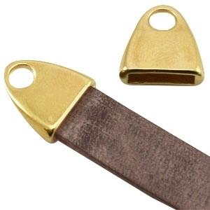 DQ eindkap voor 10mm leer goud