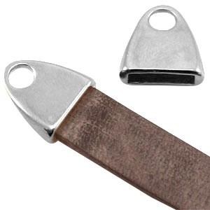 DQ eindkap voor 10mm leer zilver