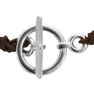 DQ kapitel slot zilver 19x13mm