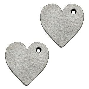 DQ leer hanger hart 25mm graphite grijs