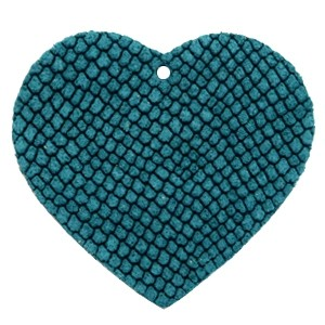 DQ leer hanger hart 5x6cm porcelain blue