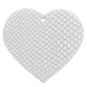 DQ leer hanger hart 5x6cm star white