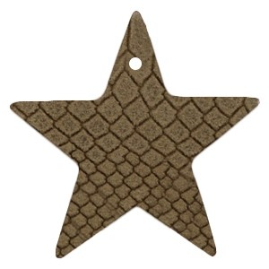 DQ leer hanger ster 5x5cm etherea brown