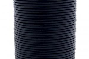 DQ leer rond 2mm donker blauw 1 meter