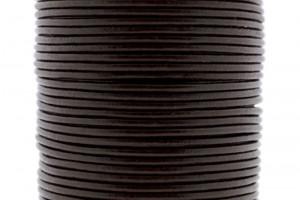 DQ leer rond 2mm donker bruin 1 meter
