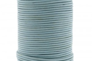 DQ leer rond 2mm light blue 1 meter