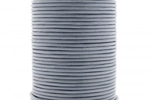 DQ leer rond 2mm light grey 1 meter