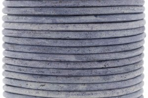 DQ leer rond 2mm vintage blue 1 meter