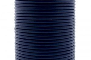 DQ leer rond 3mm blauw 1 meter