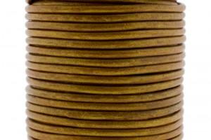 DQ leer rond 3mm cinnamon 1 meter