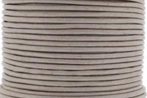 DQ leer rond 3mm light taupe metallic 1 meter