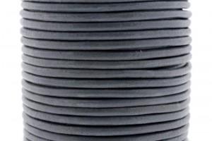 DQ leer rond 3mm midden grijs 1 meter