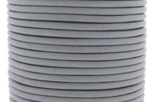 DQ leer rond 3mm muis grijs 1 meter