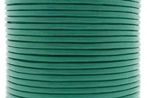 DQ leer rond 3mm turquoise groen 1 meter