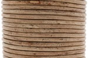 DQ leer rond 3mm vintage brown 1 meter