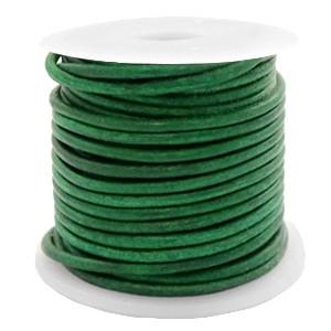DQ leer rond 3mm vintage classic green 1 meter