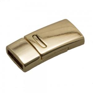 DQ magneetslot 27x13mm goud (voor 10mm plat leer / koord)