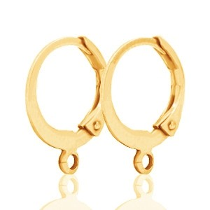 DQ oorringen gold plated 15x12mm (per paar)