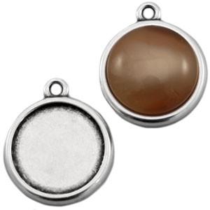 DQ Polaris setting 1 oog zilver (voor cabochon 20mm)