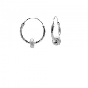 Karma oorbellen hoops symbols bali 2 zilver 12mm (per paar)