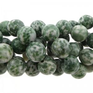 Edelsteen kraal green spot rond groen 10mm