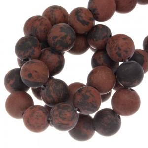 Edelsteen kraal mahogany obsidian rond bruin 10mm