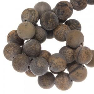 Edelsteen kraal natural rond bruin 10mm