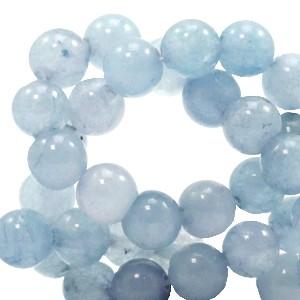 Edelsteen kraal rond 6mm fog blue