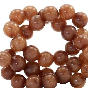 Edelsteen kraal rond 6mm tawny brown