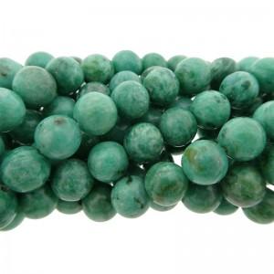 Edelsteen kraal rond 8mm agaat aqua blauw groen