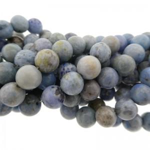 Edelsteen kraal rond 8mm agaat blauw