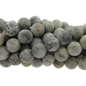 Edelsteen kraal rond 8mm agaat mat grijs