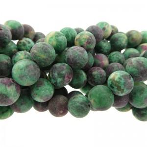 Edelsteen kraal rond 8mm agaat mat groen