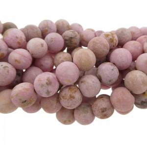 Edelsteen kraal rond 8mm agaat mat roze