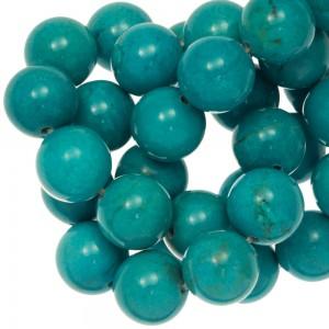 Edelsteen kraal sinkiang turquoise rond blauw 10mm