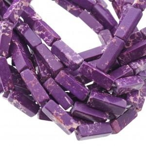 Edelsteen / natuursteen jaspis tube kralen rond 13x5mm purple