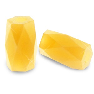 Facet kraal tube 2.5x3mm sunflower yellow opaque