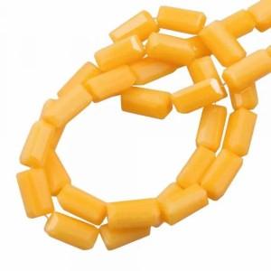 Facet kraal tube rechthoek 7x3mm honey yellow