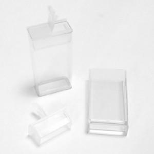 Flip-top bewaardoosje 50mm transparant
