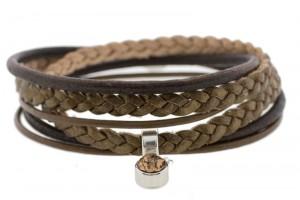 FRIS! Wikkelarmband braided brons
