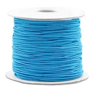 Gekleurd elastiek draad rond 0.8mm aqua blue 1 meter