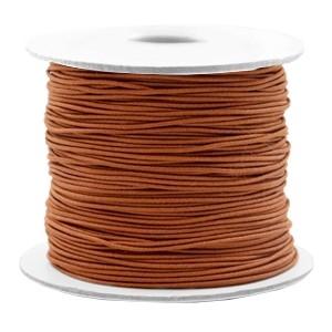 Gekleurd elastiek draad rond 0.8mm copper brown 1 meter