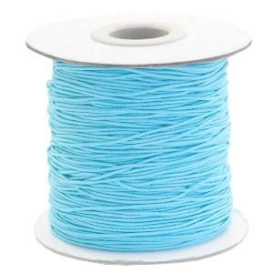 Gekleurd elastiek draad rond 0.8mm sky blue 1 meter