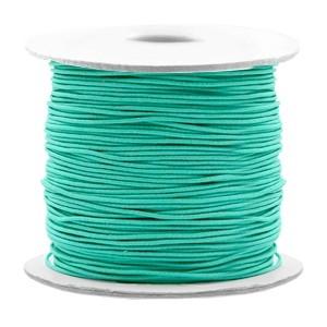 Gekleurd elastiek draad rond 0.8mm turquoise green 1 meter