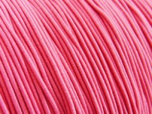Gekleurd elastiek rond 0.8mm 10 meter zuurstok roze