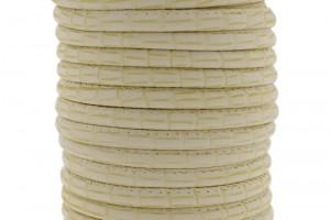 Gestikt DQ leer 4mm bamboe beige per 20cm