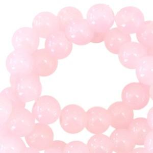Glaskraal opal 6mm light pink