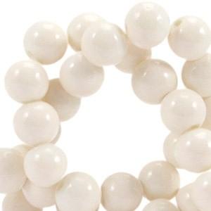 Glaskraal opaque 6mm cream beige
