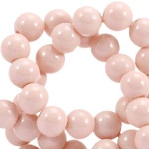Glaskraal opaque 6mm cream pink